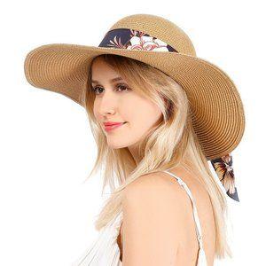 🆕 Flowers Beach Sun Hat Adjustable & Free Gift